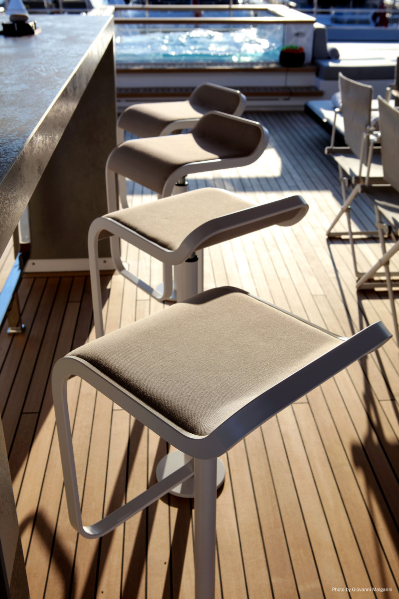 Modern design elements are found throughout the boat.