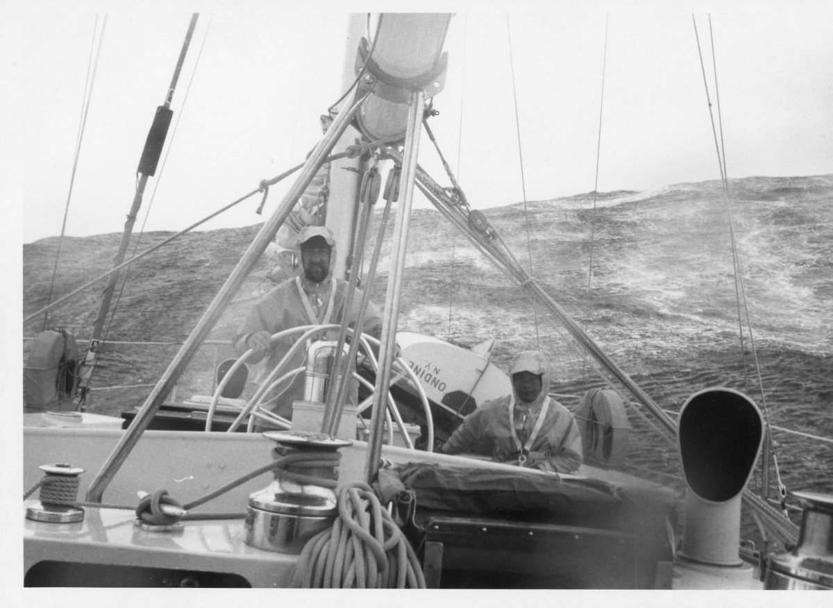 S/Y Ondine was now a schooner rig, albeit not an elegant one. At least we were moving and somewhat under control.