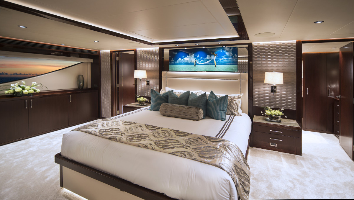 The standard accommodations plan calls for a main-deck master and four belowdecks guest staterooms.