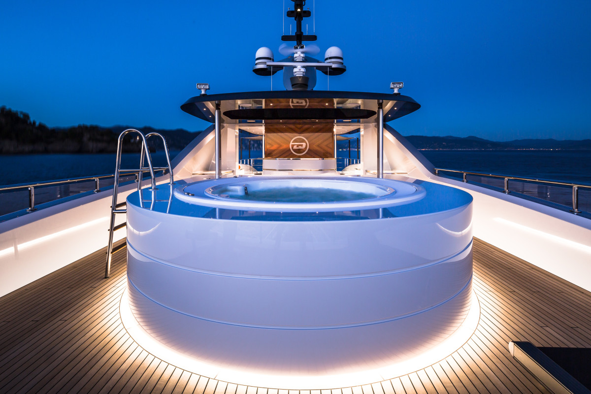 The sundeck gives the impression of being aboard a much larger yacht.
