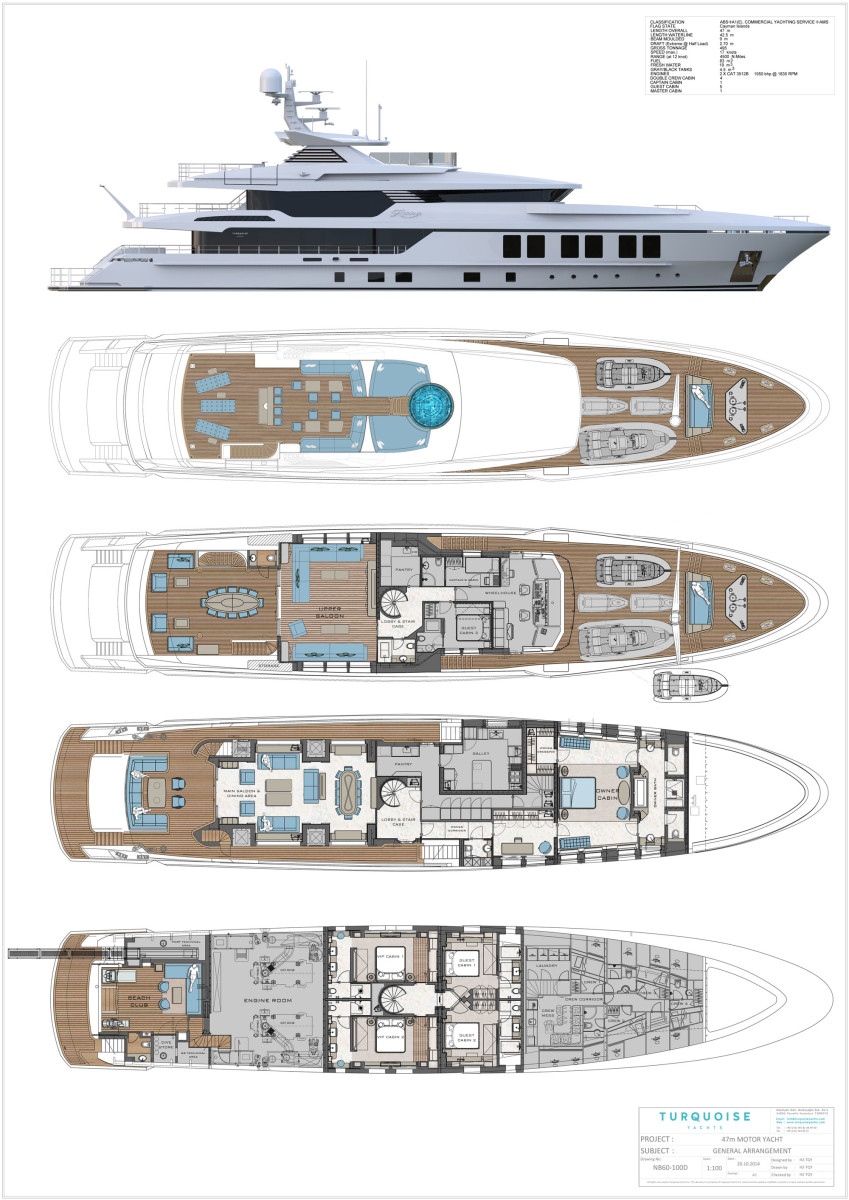 Deck plans of Turquoise Razan/ROE
