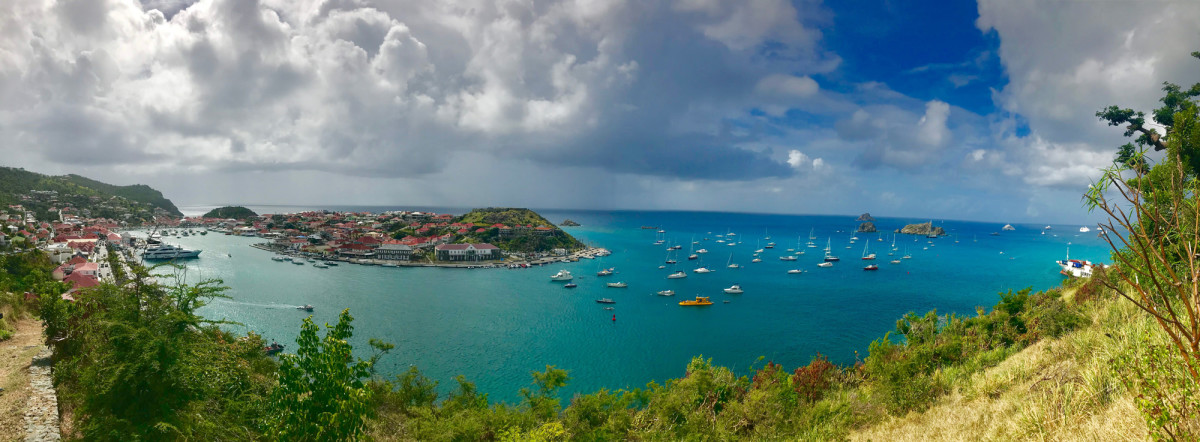 Gustavia Harbor is considered one of the most exclusive superyacht ports in the world. (photo by Andrew Parkinson)