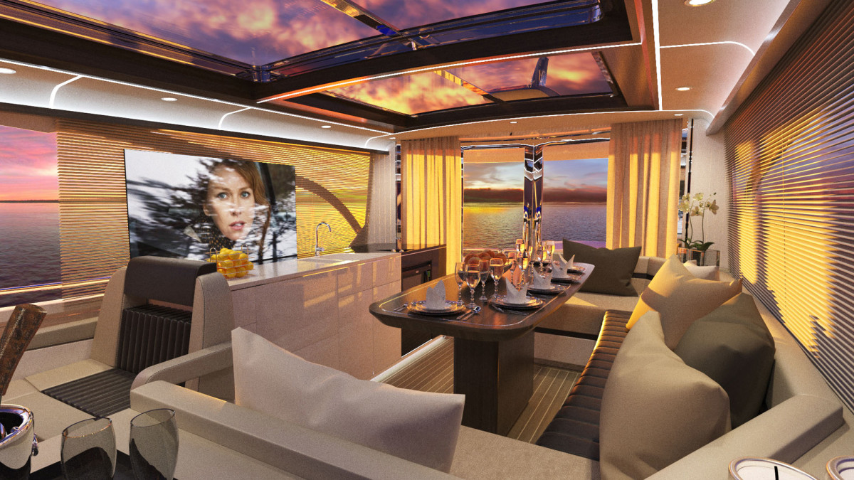 The LOA may be a departure from typical Burger yachts, but the interior's craftsmanship and fit and finish will be familiar to Burger owners and enthusiasts.