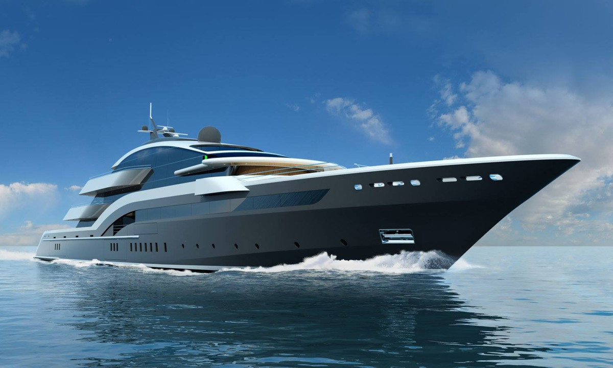 Oceanco's 90-meter Project Yasmin, designed by Espen Oeino with an interior by Terence Disdale Design.