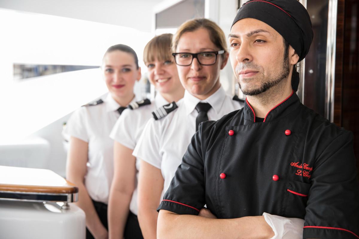 Chef Andrea Campidonico, M/Y Victory