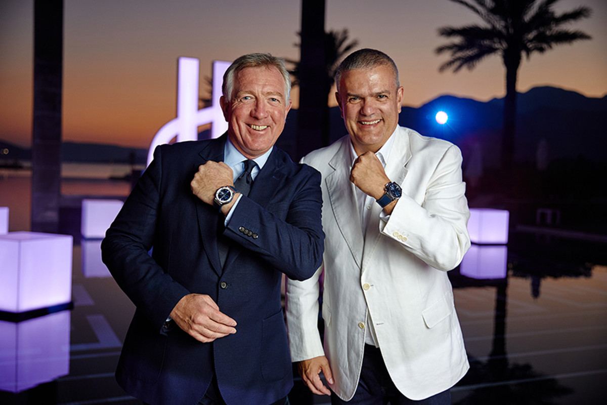 Ricardo Guadalupe, CEO of Hublot, and David Margason, managing director of Porto Montenegro