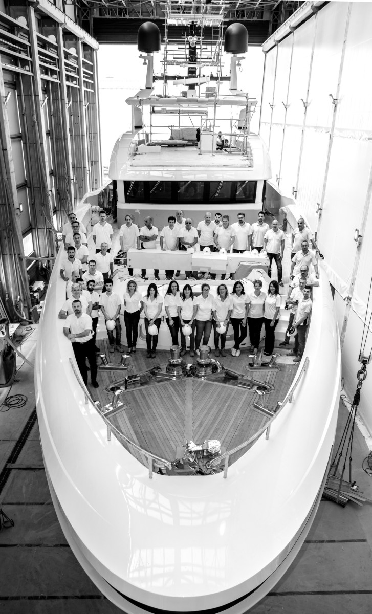 Baglietto Team on the Baglietto 48m T-Line_web