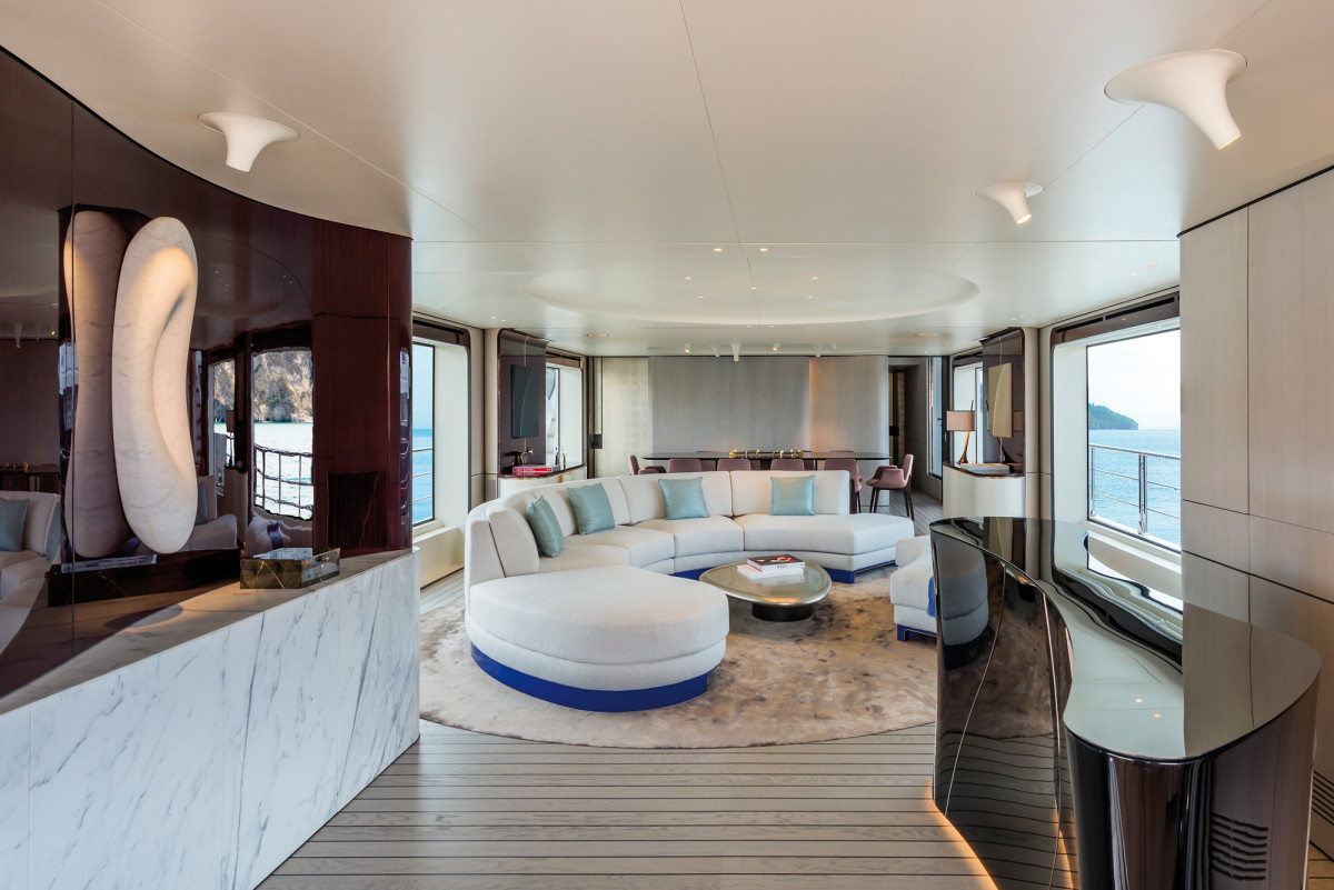 The salon offers generous glazing and a choice of Achille Salvagni interiors.
