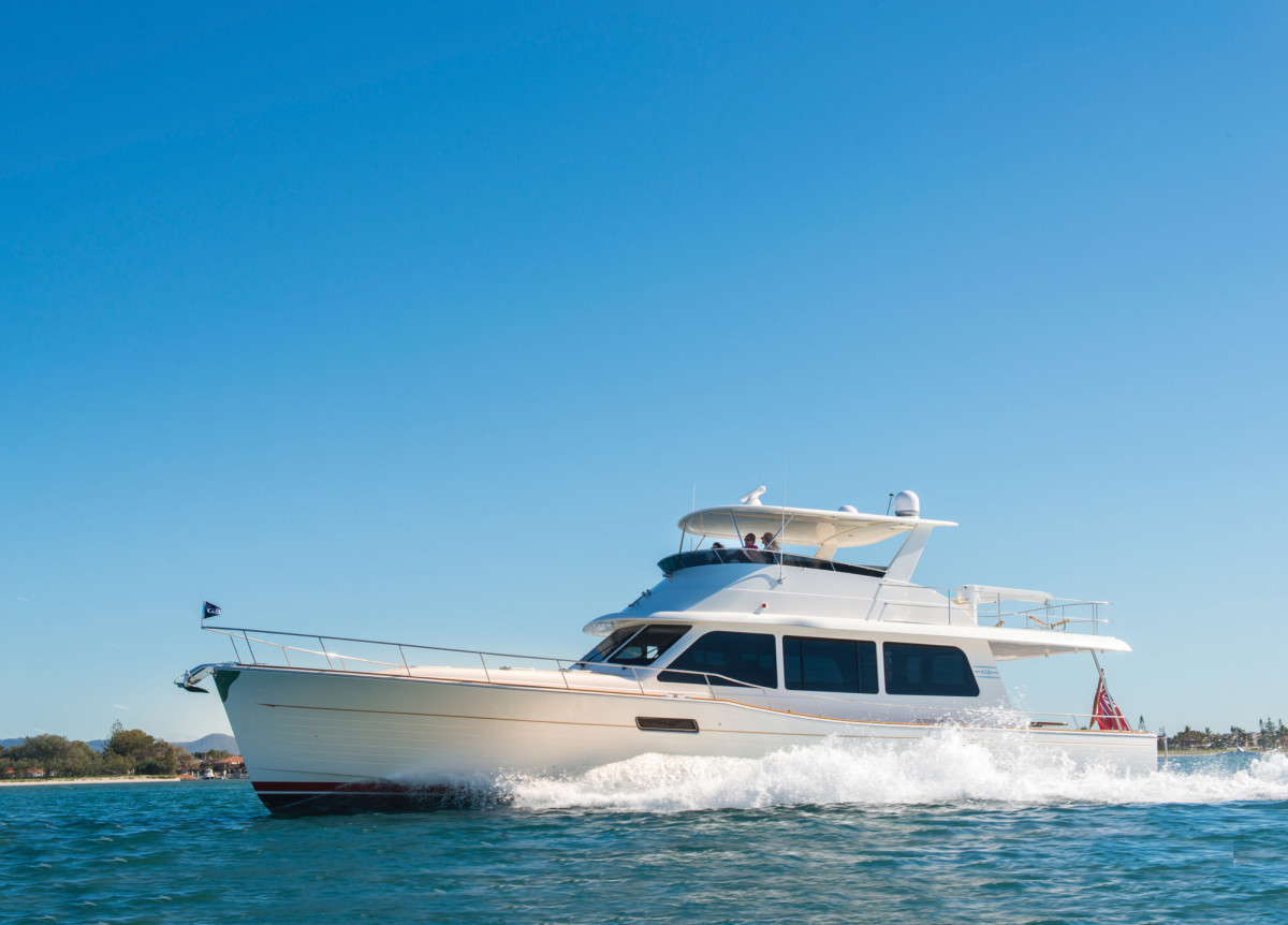 The Grand Banks 60 is as fast and fashionable as she is efficient at displacement speeds.