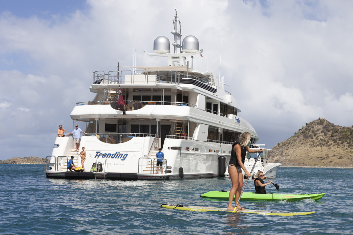 M/Y Trending has water toys galore, because that's how her owner loves to play.