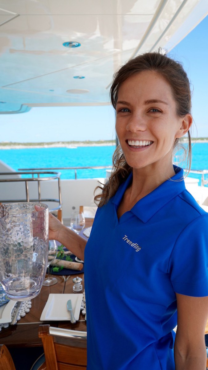 Niki of the M/Y Trending crew