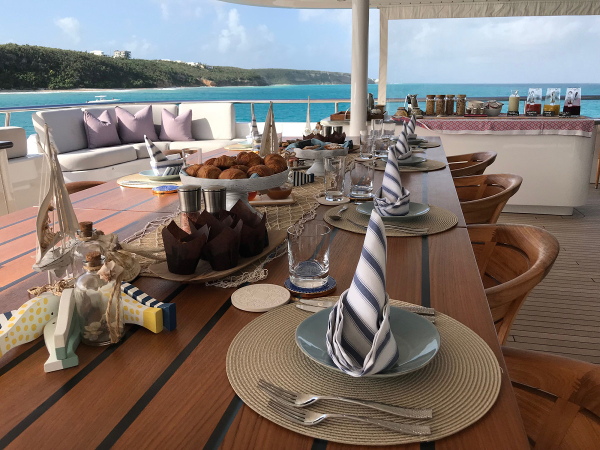 On a private yacht charter, the best food in the Caribbean often comes from your own galley.