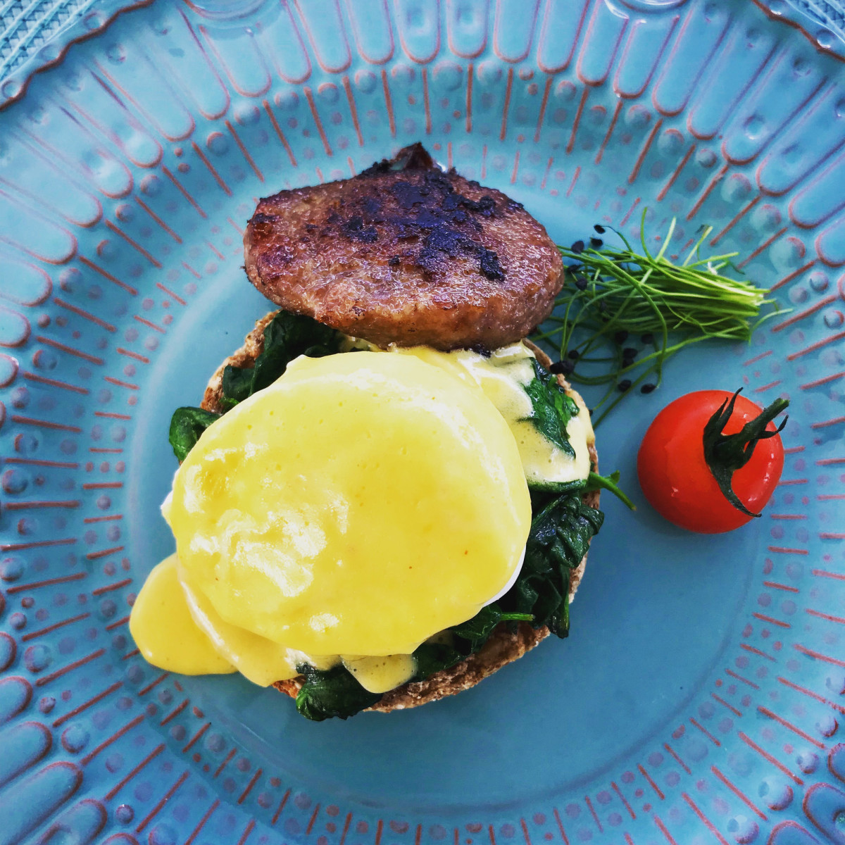 The chef's special eggs Florentine aboard M/Y Dream are second to none.