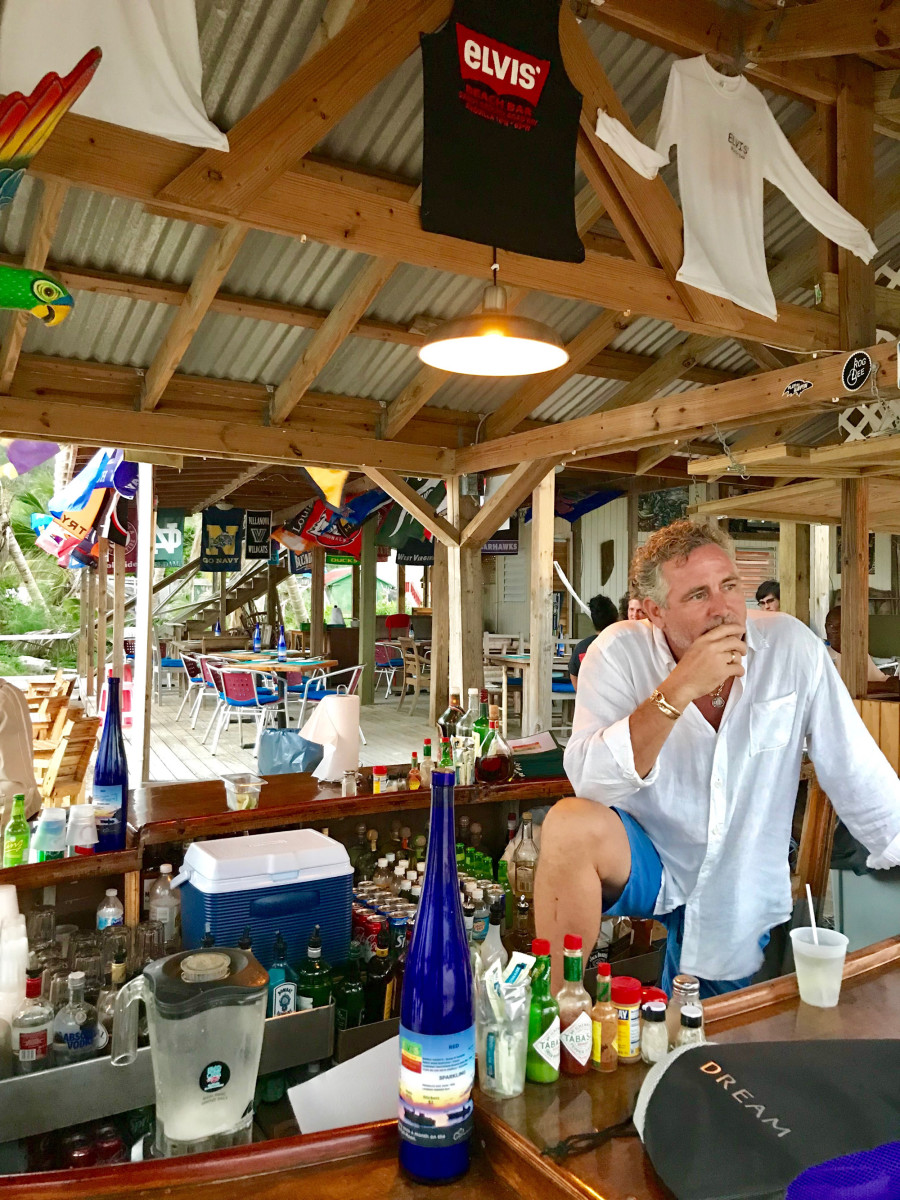 Co-owner of Elvis' Beach Bar, Road Bay, Anguilla