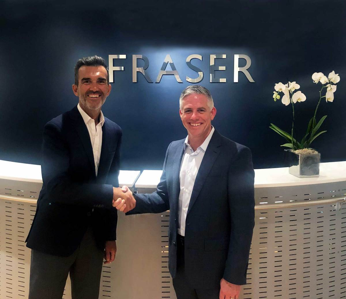 Raphael Sauleau, CEO of Fraser (left), W. Brett McGill, Chief Executive Officer and President of MarineMax (right)