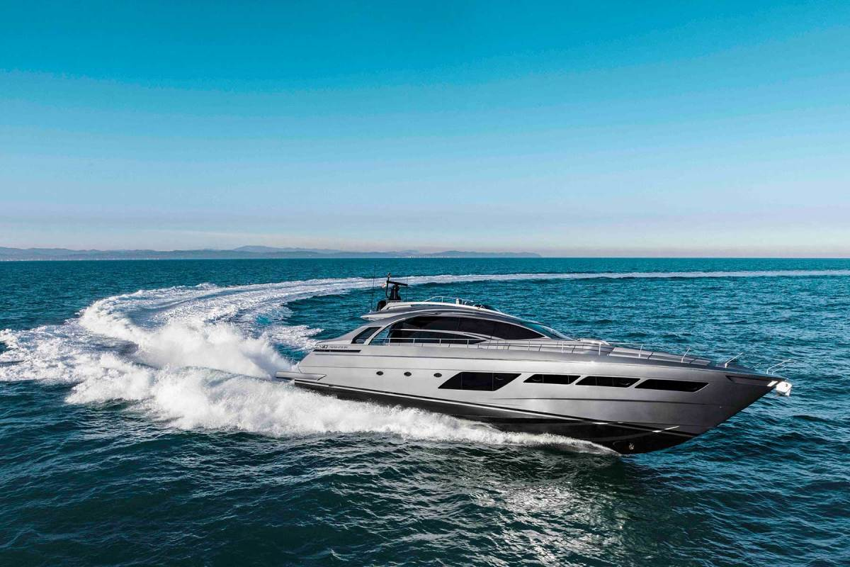 Side-on, the 8X is every inch the uncompromising, high-performance Pershing. The trick is to have made it significantly wider, and therefore much bigger inside, without compromising the brand's sacred speed capability or handling qualities.