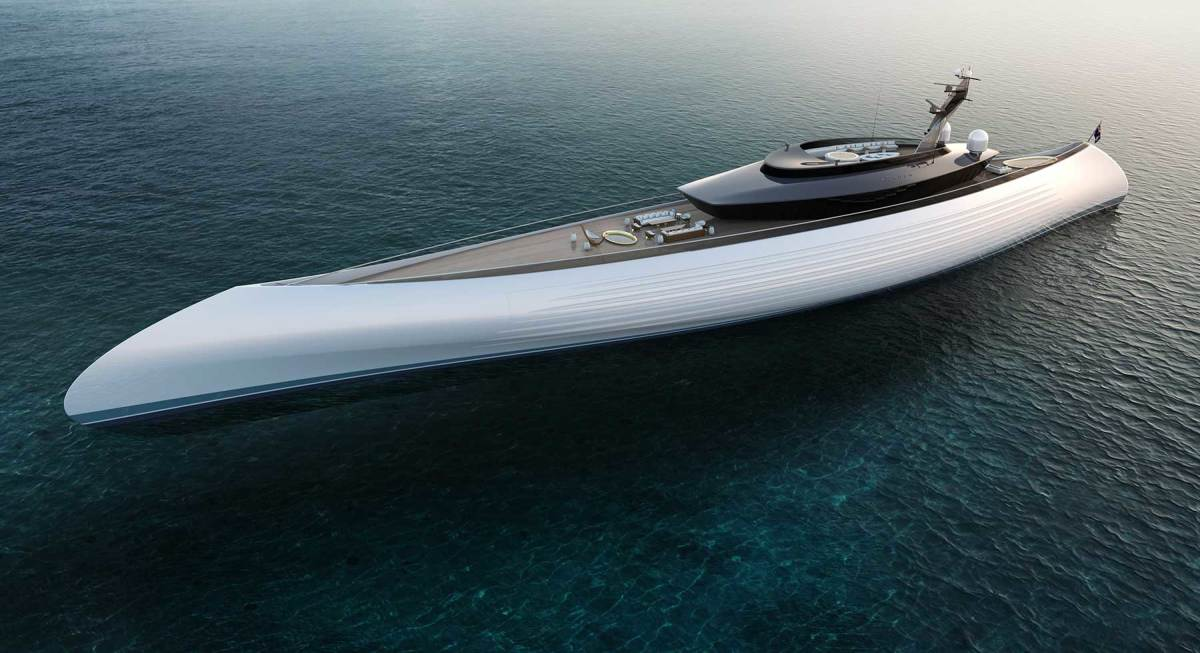 The exterior styling is reminiscent of early canoes, dugouts and other vessels that indigenous people used all over the world. Lobanov developed her hull and hybrid propulsion with Lateral Naval Architects.