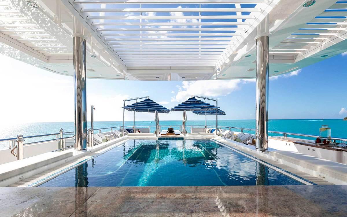 Titania's sundeck pool and wet bar