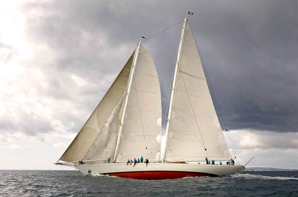 Windrose of Amsterdam was designed by Dykstra Naval Architects and built by Holland Jachtbouw. The 152-foot (46.3-meter) schooner made headlines after breaking the transatlantic crossing record twice, in 2002 and 2005.