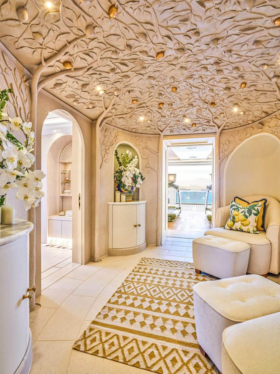 The spa features a citrus motif.