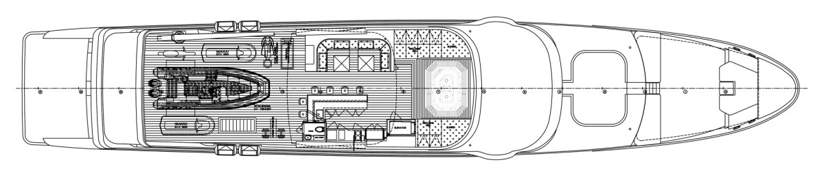 A deck-plan drawing is all that is currently available to see of Christensen's Hull 42, which is still 20 to 24 months out from delivery.