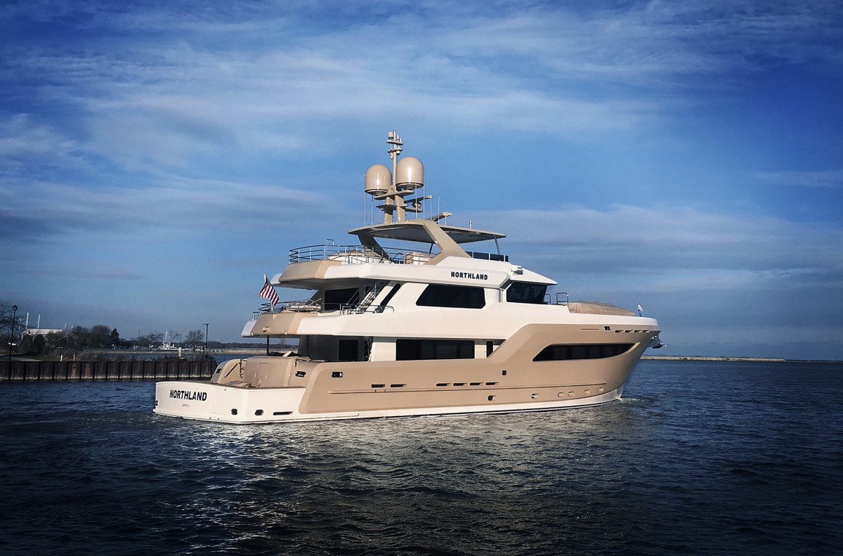 Designer Luiz DeBasto of Miami penned the interior and exterior of Burger Boat Company's hull number 510, Northland.