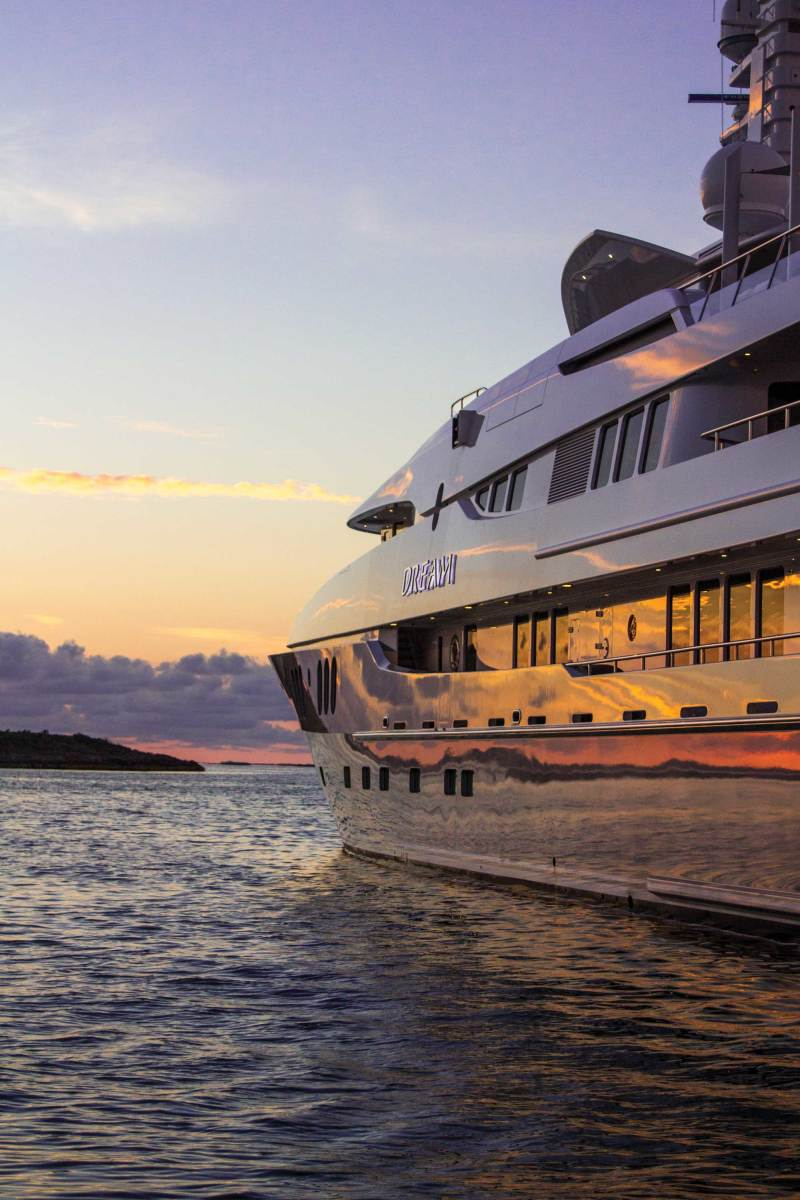 The 197-foot Abeking & Rasmussen Dream is expected to charter in the South Pacific and New Zealand this season at a weekly base rate of around $420,000.