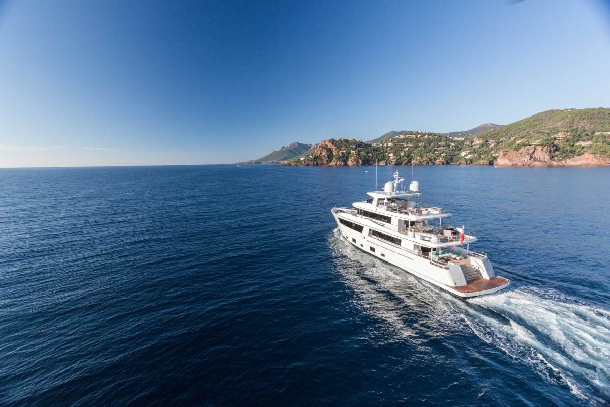 The 110-foot Cantiere Delle Marche Narvalo is scheduled to charter along and near the Amalfi Coast this summer. The captain urges clients to schedule stops at Capri in advance, or risk failing to find a slip in the marina.