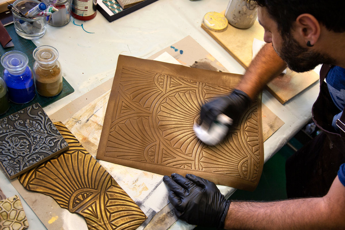 The finishing processes are all done by hand using time-honored techniques and processes that highlight the natural qualities of leather.