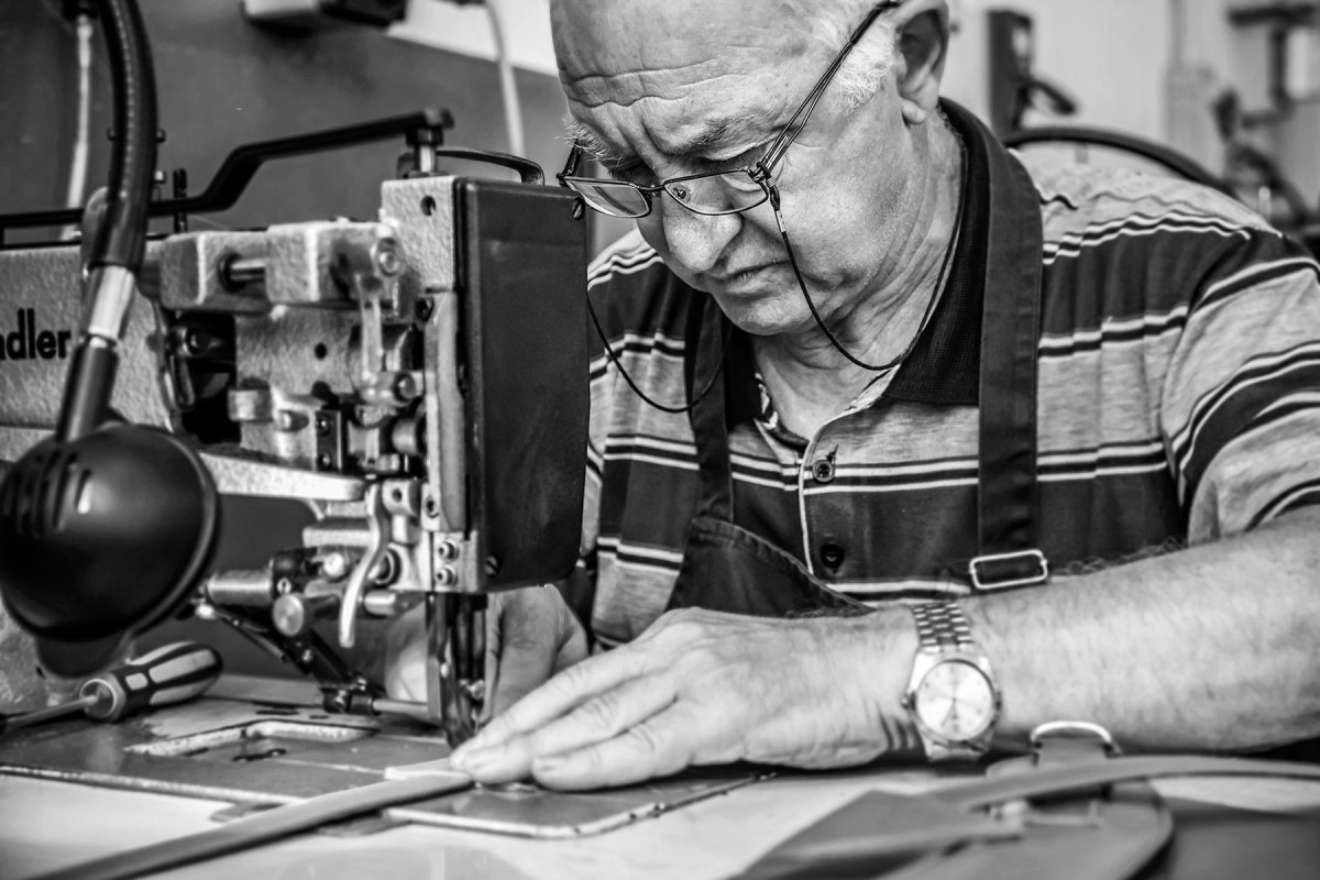 Ezio Provasi recently celebrated his  60th year as a leathersmith
