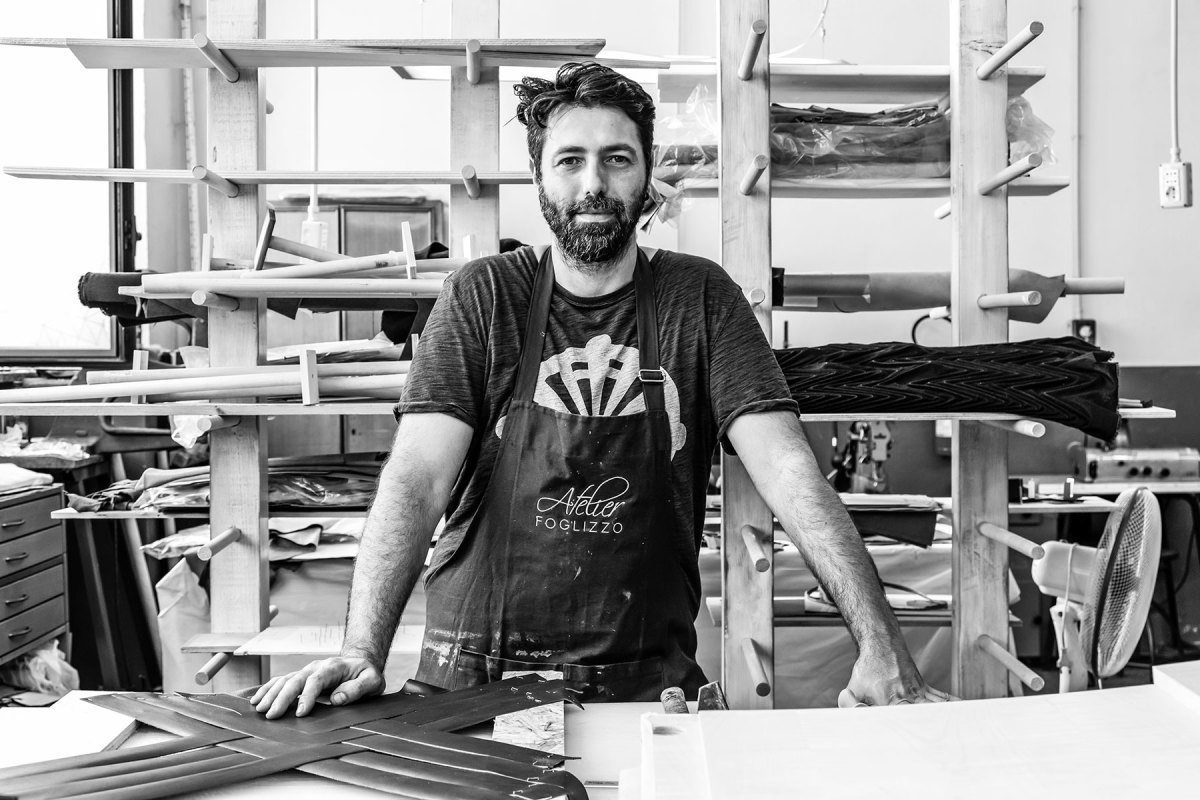 Marco Messina heads up the Foglizzo atelier or finishing studio.