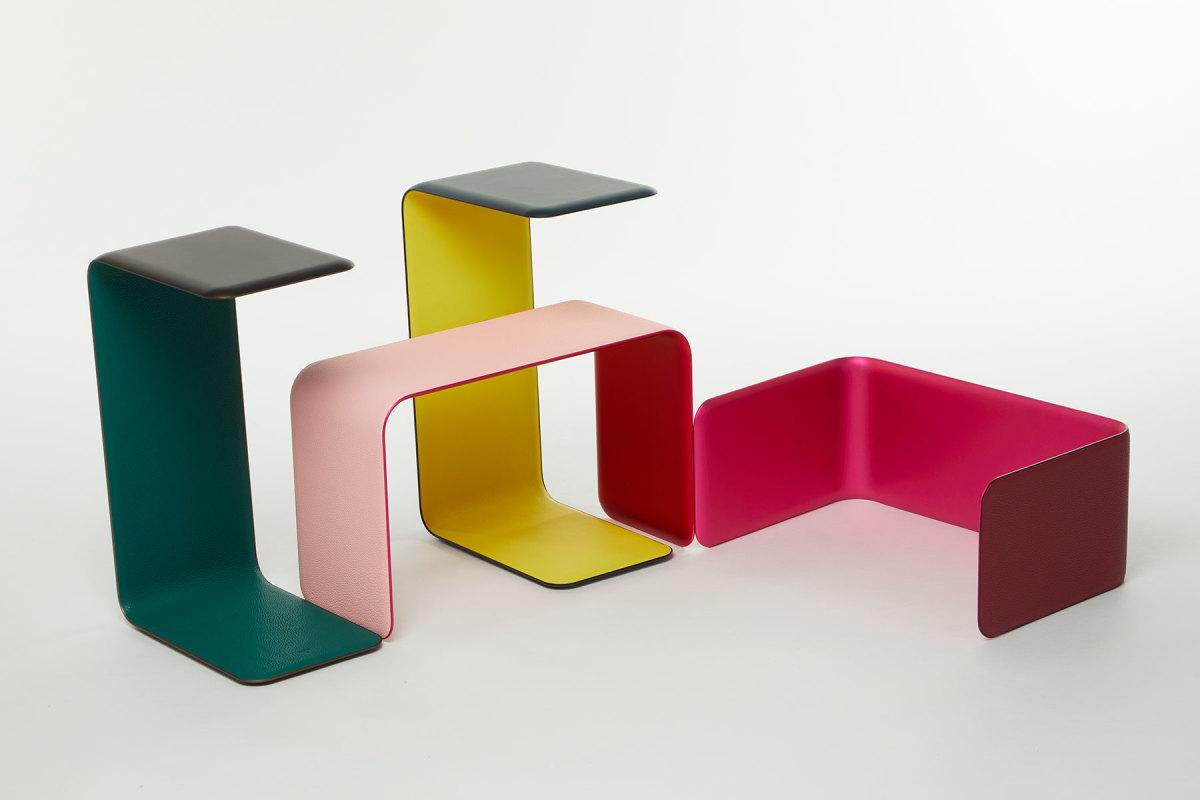 Petit H tables for Hermès.