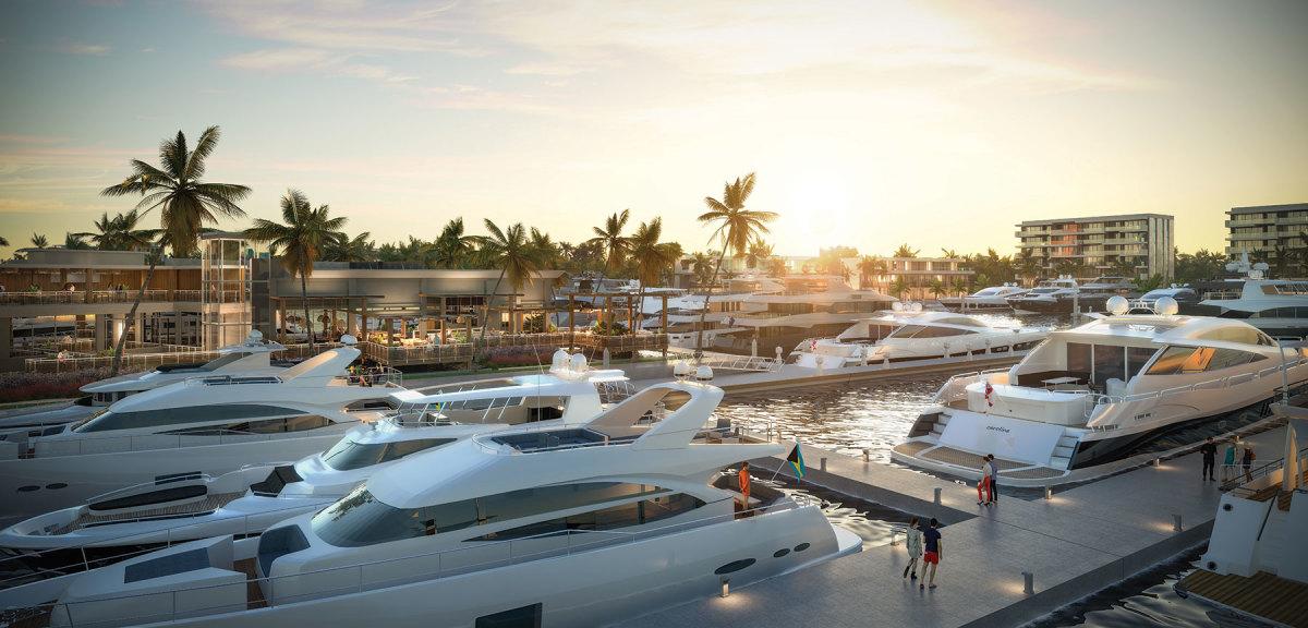 Hurricane Hole Superyacht Marina rendering