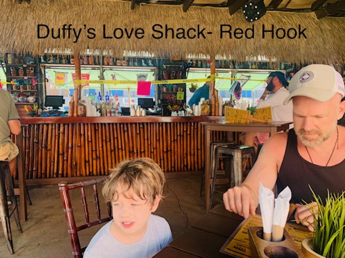 St. Thomas section - duffy's love shack - bar closed off