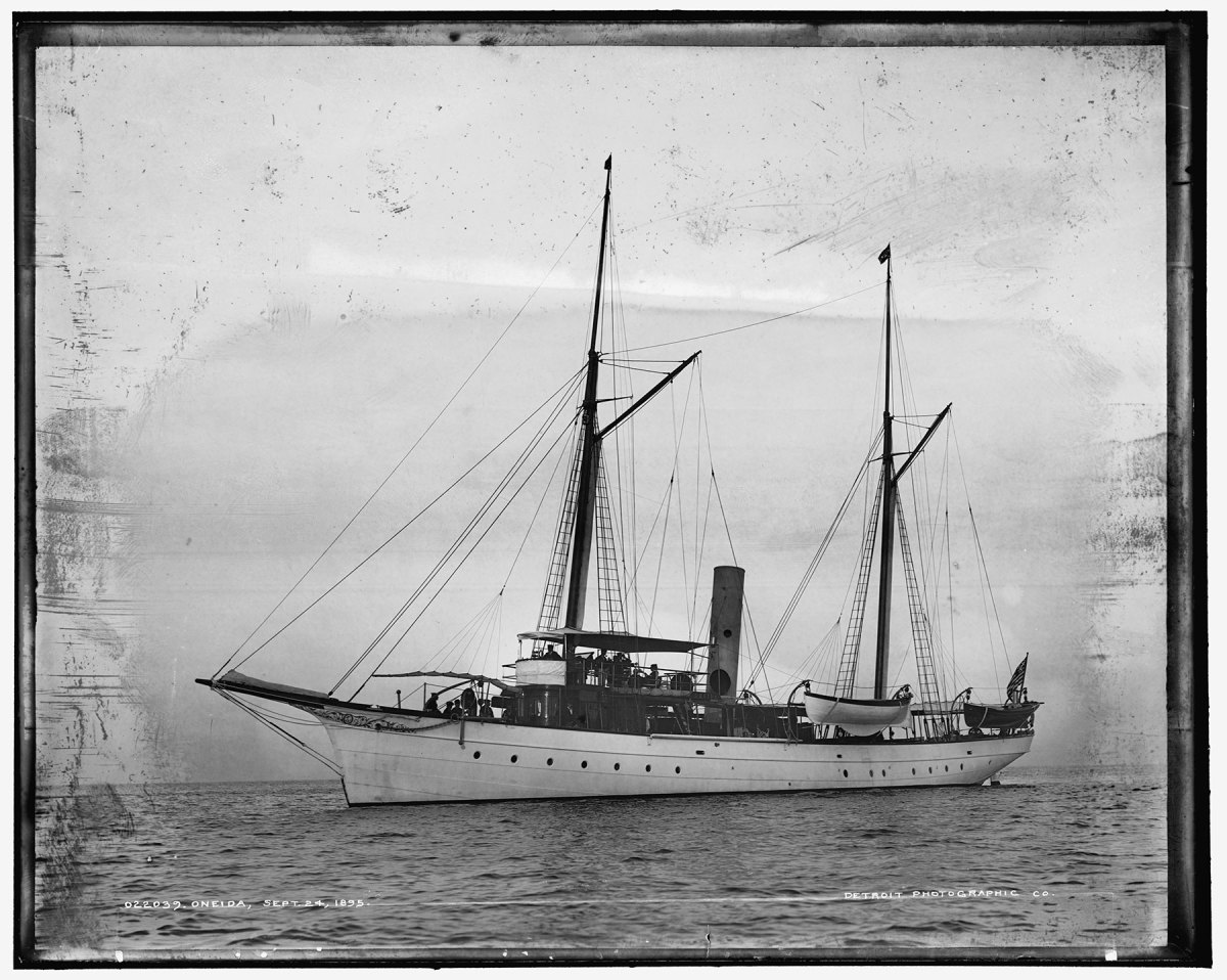 Even by the Gilded Age's gaudy standards, the 138-foot steam yacht Oneida was a fabulous vessel.