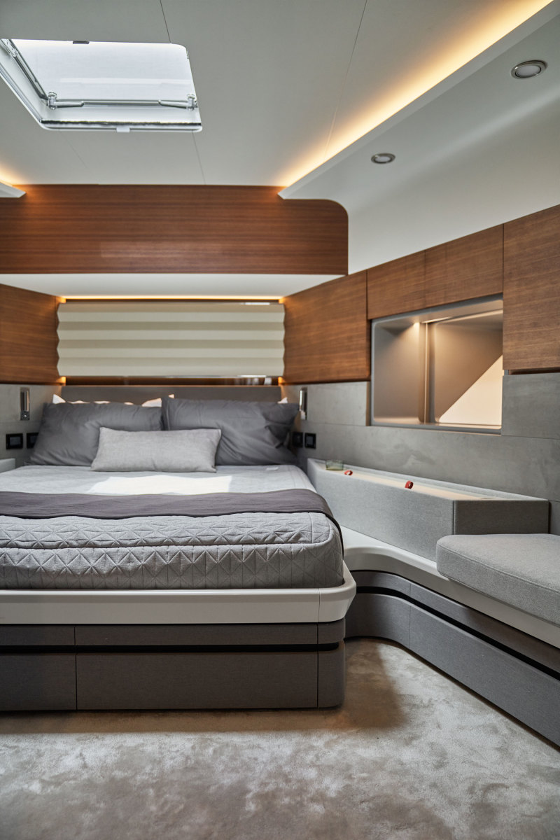 The yacht has four staterooms that allow her to comfortably sleep eight people.