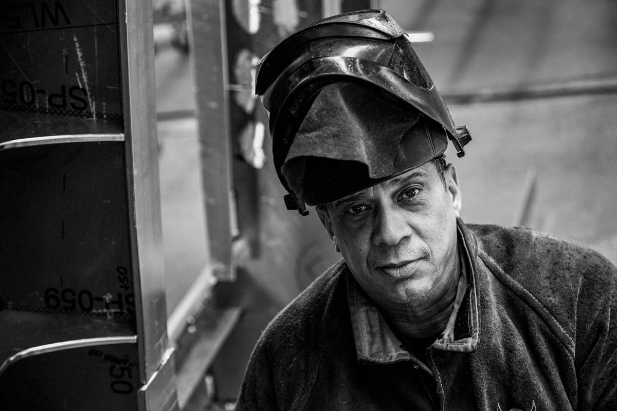 Carlos Vrolijk, foreman at Heesen, has been welding for over 40 years after following his father into the trade at age 17.