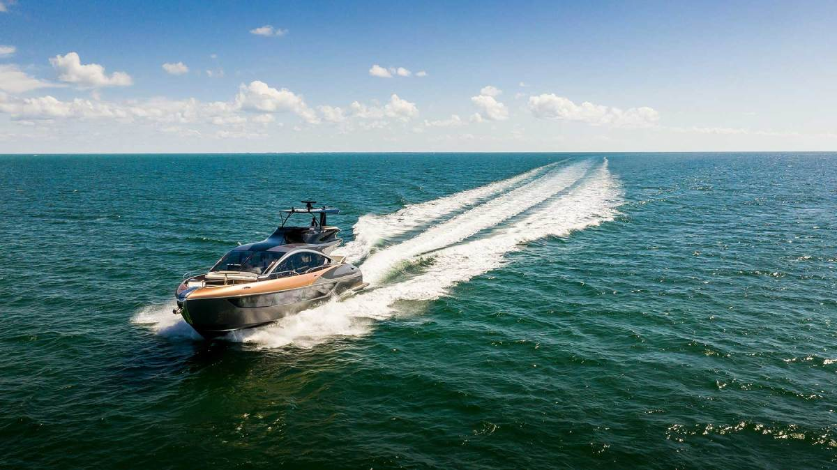 While any Lexus car could outrun it on the road, the LY 650 rules the waves with a top speed of 37.4 knots.