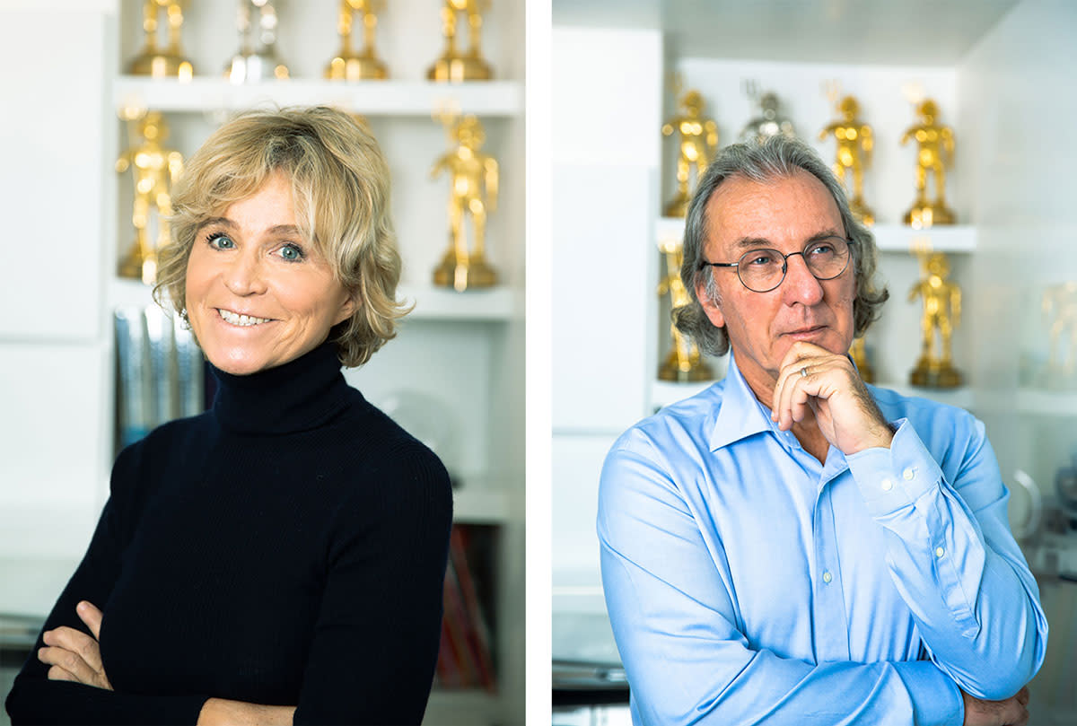 Veerle (left) and Philippe Briand (right)