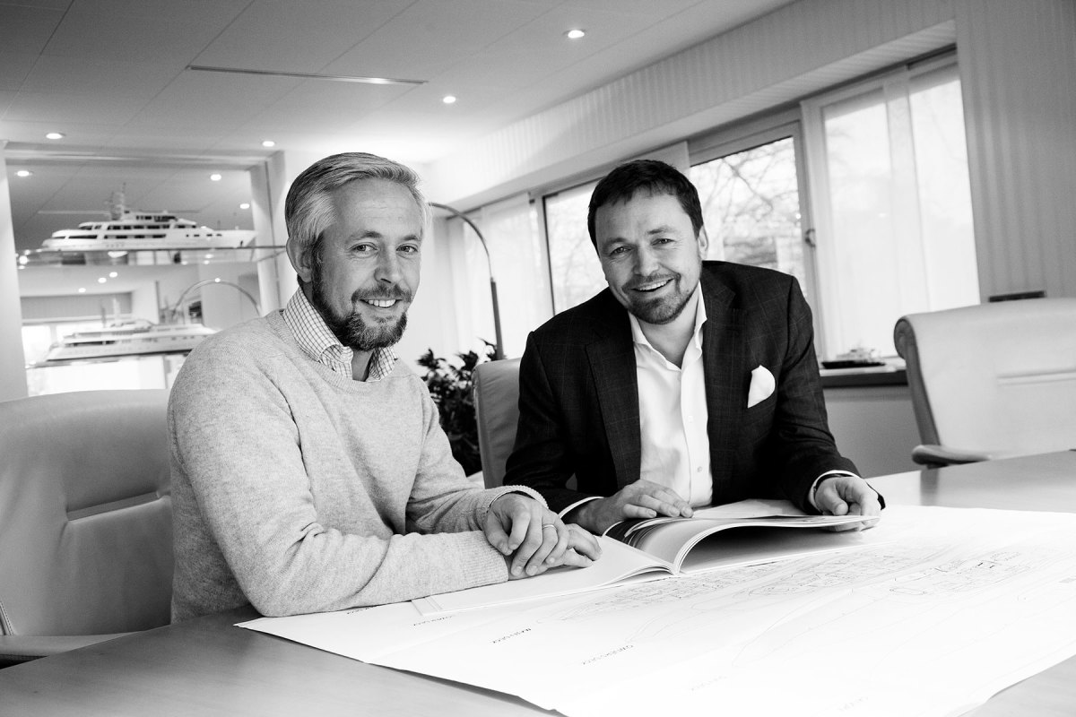 Ben Harrison (left) and Peder Eidsgaard both grew up with an unwavering passion for boats and design.