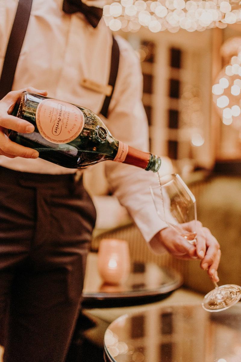 Laurent Perrier La Cuvée Rosé is always a festive choice.