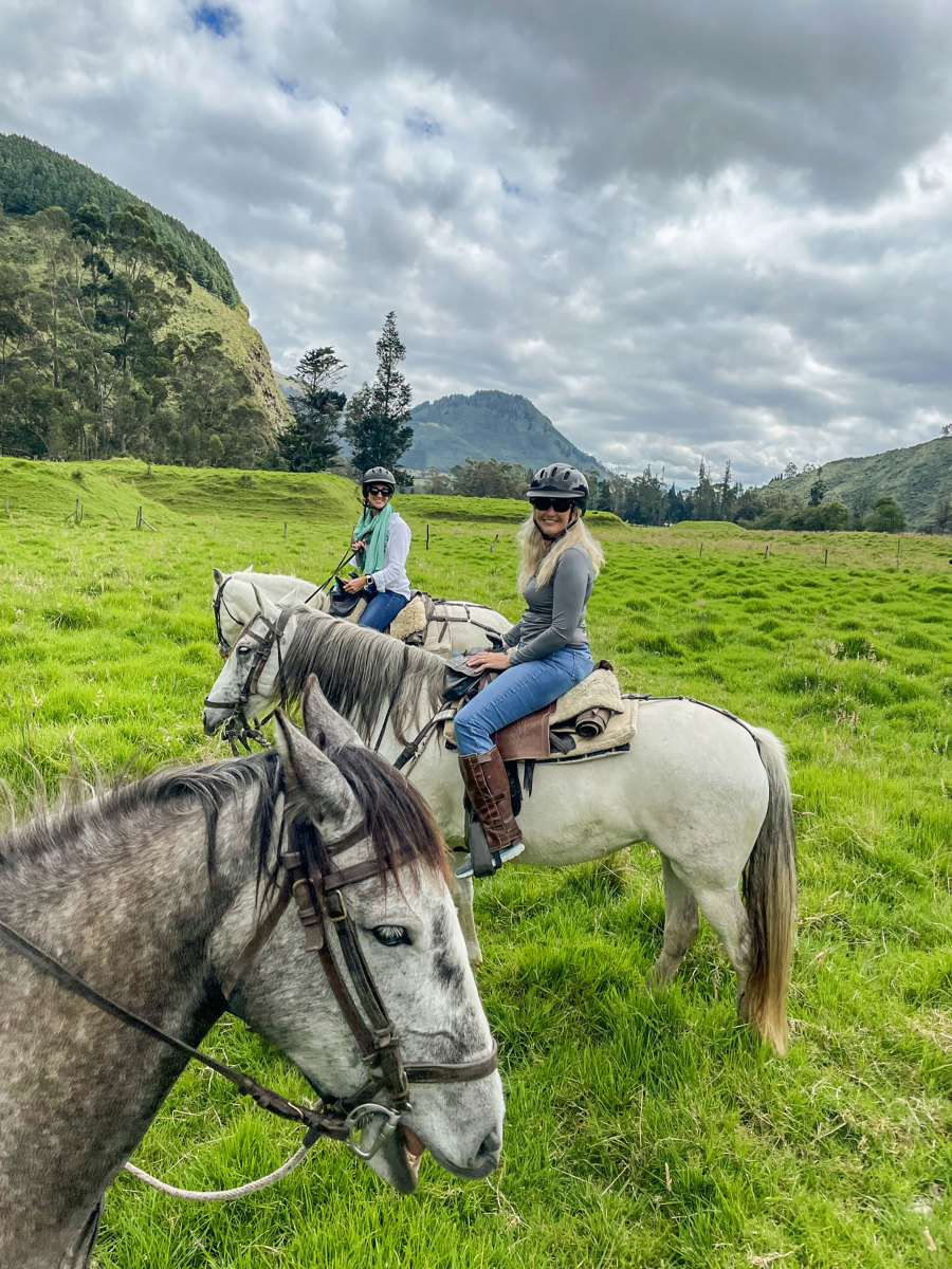 While making the trip to the Galápagos, it is worthwhile to extend your stay and visit mainland Ecuador. One memorable side trip we made was to the mountainside area north of Quito for a horseback riding adventure at Hacienda Zuleta.