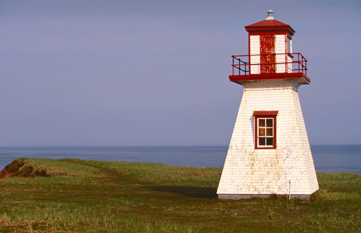 The diminutive Cap Alright lighthouse on Havre-aux-Maisons, an island in Quebec's Magdalen archipelago, was built to help guide the local fishermen home.