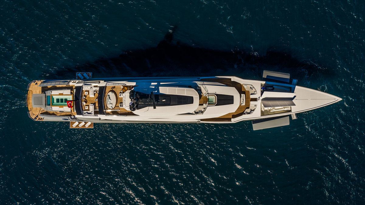 A bird's-eye view exemplifies how Tatiana's deck layout is designed for fun, relaxation and entertainment.