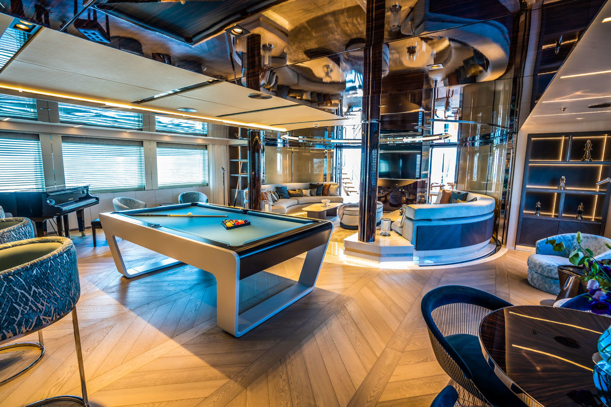 The sky lounge with its pool table and piano has a sports bar feel and is the place of choice for the teenagers aboard.
