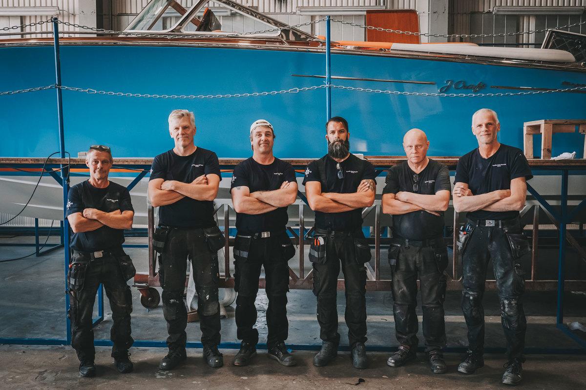 The six-man build team
