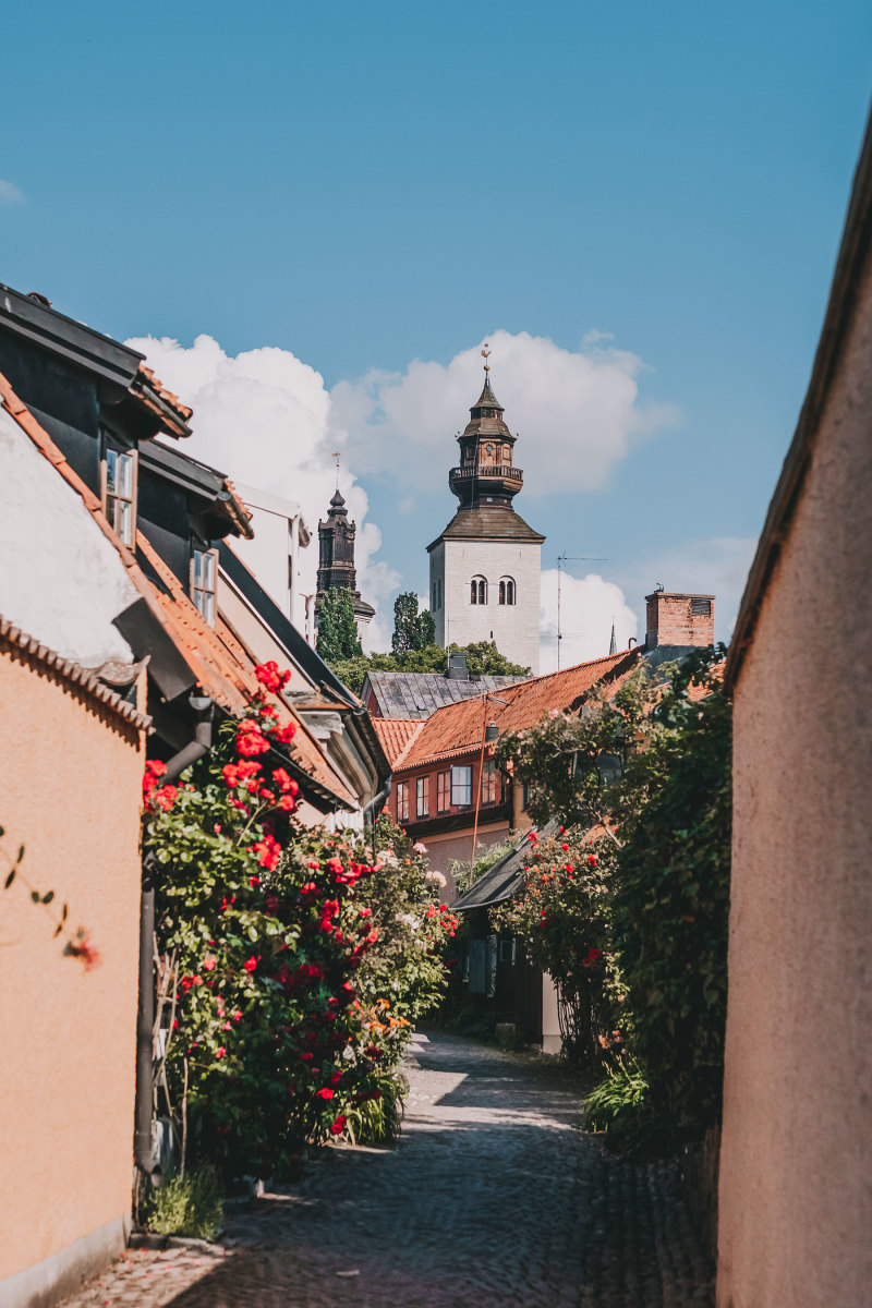 The medieval town of Visby.