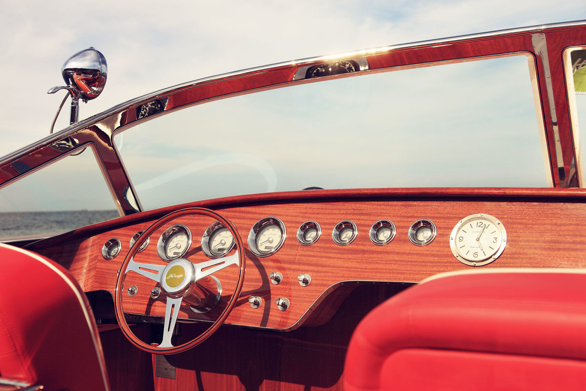 Steering wheels are supplied by Nardi in Italy